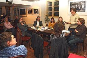 Presentación del libro en la galería Mlynska, de Praga, foto: Carlos Vicente