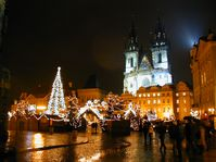 The Christmas market on Old Town Square