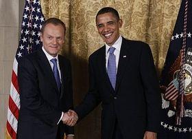 Le Premier ministre polonais Donald Tusk et Barack Obama au cours de la rencontre de 11 pays d'Europe centrale et orientale, photo: CTK