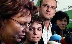 Zleva: Dana Kuchtová, Věra Jakubková, Martin Čáslavka aOlga Zubová, foto: ČTK