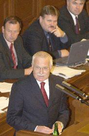 El presidente checo, Václav Klaus, visitó por primera vez desde su elección la Cámara Baja, foto: CTK