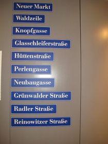 Straßennamen in Neugablonz (Foto: Martina Schneibergová)