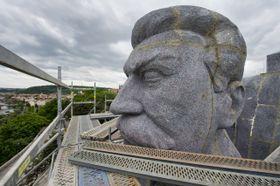 La maquette du monument dans le parc de Letná, photo: ČTK