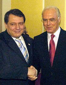 Prime Minister Jiri Paroubek with Franz Beckenbauer, photo: CTK