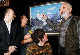 Zleva: Sergej Šajchislamov, Radek Jaroš, Vojta Kotek aZdeněk Svěrák, foto: ČTK