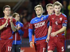 La selección de fútbol Sub-21 checa se quedó con las ganas de lograr una medalla en el campeonato europeo ante las gradas locales, foto: ČTK
