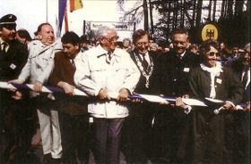 Probegrenzöffnung in Mähring am 30. April 1990 (Quelle: Archiv Mähring)