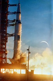 Start rakety Apollo 8, foto: NASA, Wikimedia Commons, Public Domain