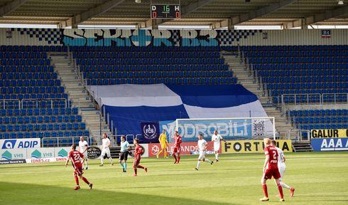 Geisterspiel 1. FC Slovácko gegen Olomouc (Foto: ČTK / Dalibor Glück)