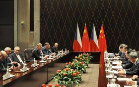 Miloš Zeman en Chine, photo: Radek Jozífek/ČTK