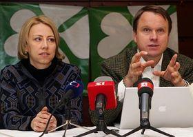 Kateřina Jacques aMartin Bursík, foto: ČTK