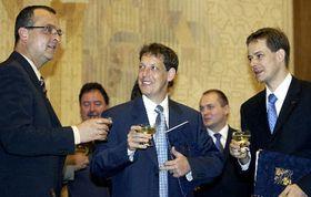 Stanislav Gross, Miroslav Kalousek (vlevo) aPavel Němec, foto: ČTK