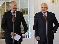 Přemysl Sobotka a Václav Klaus, foto: ČTK
