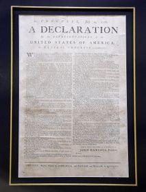 На выставке можно увидеть и одну из наиболее ценных копий Декларации независимости США, Фото: ЧТК