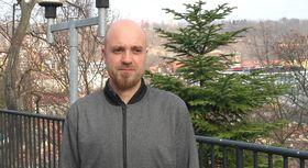 Octavio Guerra en Praga, foto: Enrique Molina