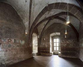 Lauf, královská rezidence Karla IV. nedaleko Norimberka, pohled do trůnního sálu, kolem 1360, foto Radovan Boček / Národní galerie vPraze