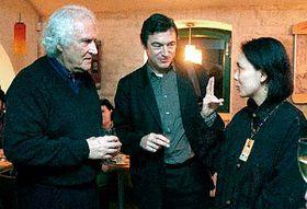 De izquierda: Fernando Solanas, Jean-Pierre Rehm y Naomi Kawase (Foto: CTK)