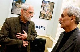 Jiri Stransky and the Minister of culture Pavel Dostal, photo: CTK
