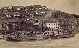 Le bateau à vapeur Praha