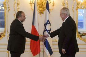 Avigdor Lieberman y Miloš Zeman, foto: ČTK