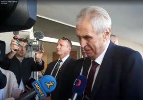 Miloš Zeman, photo : Josef Kopecký, ČRo