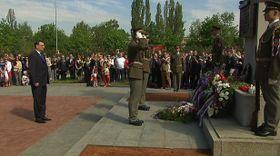 Возложение венков на Ольшанском кладбище, Фото: ЧТ24