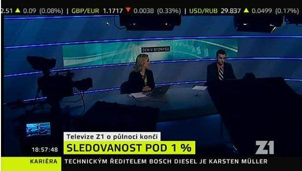 Business news TV channel Z1 shuts down | Radio Prague