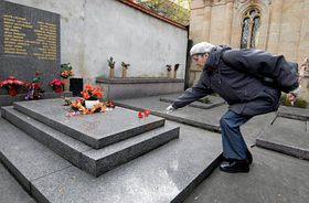 The grave of Klement Gottwald in Olšanské cemetery, photo: CTK