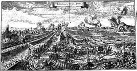 Le siège de Prague par les Suédois en 1648