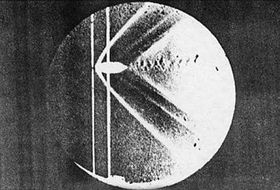 Ernst Mach's photo of a bullet in supersonic flight