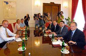 Jednání formující se vlády, foto: ČTK