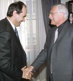 Václav Klaus y Alejo Vidal-Quadras; en el año 2000 (Foto: CTK)