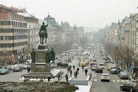 Вацлавская площадь, Фото: Олег Фетисов, Архив Чешского радио