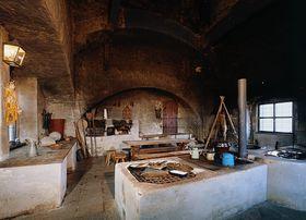 La cocina negra del Palacio de Jindřichův Hradec, foto: presentación oficial ded Castillo Jindřichův Hradec
