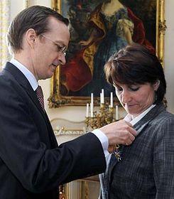L'ambassadeur français Charles Fries et Michaela Šojdrová, photo: CTK