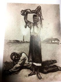 Открытка, посвященная Голодомору, фото: Катерина Айзпурвит