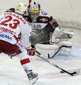 Score final : 2-1 en faveur du Slavia qui a inscrit ses deux buts dans le premier tiers-temps, photo: CTK