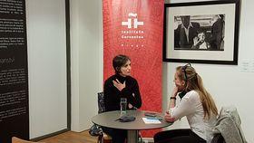Patricia Gonzalo de Jesús en entrevista con Eliška Kubánková