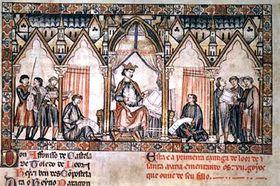 Kastilský král Alfonso X. Moudrý