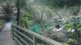 Visualisierung des Darwin-Kraters im Zoo Prag (Foto: Archiv des Prager Zoos)
