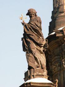 Socha sv. Jana Sarkandera na sloupu nejsvětější Trojice vOlomouci, foto: Jan Kameníček, CC0