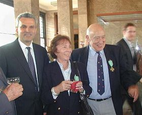 Hugo Maron, su esposa Marta y Karel Kuhnl (Foto: Martina Schneibergova)