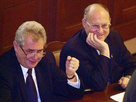 Milos Zeman (links), Foto: CTK