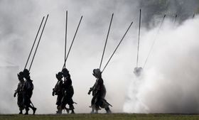 La reconstitution de la bataille de la Montagne Blanche, photo: ČTK/Ondřej Deml