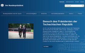Webseiten des deutschen Präsidenten