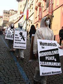 """Protestaktion """"Ne základnám"""" (Foto: Kristýna Maková, Archiv des Tschechischen Rundfunks - Radio Prag)"""