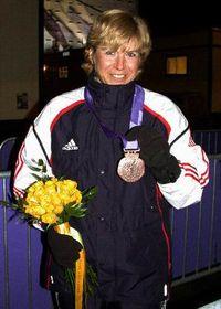 Katerina Neumannová avec le bronze olympique, photo: CTK