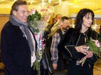 Karel Gott and Lucie Bila in Moscow, photo: CTK