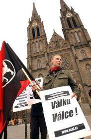 Los checos se manifestaron contra la guerra en Irak, foto: CTK