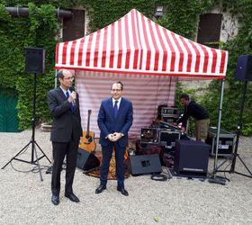 Roland Galharague, l'ambassadeur de France (à droite) avec l'ambassadeur d'Allemagne, Christoph Israng, photo: Twitter de l'Ambassade de France à Prague